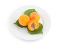 Apricots On A Plate Stock Photo - 29047100