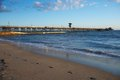 Seal Beach Pier Footprints Royalty Free Stock Image - 29051016