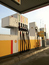 Empty Shell Gas Station Stock Images - 29056054