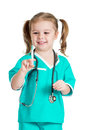 Child Playing Doctor Stock Image - 29058361