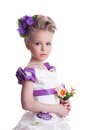 Beautiful Little Girl With Bouquet Stock Photography - 29075802