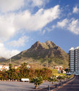 Hotel Next To A Mountain Stock Image - 29085381