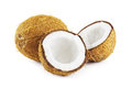 Coconuts On White Royalty Free Stock Photo - 29091215