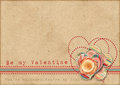 Be My Valentine. Retro Card Royalty Free Stock Images - 29096109