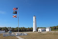 The Egmont Key Lighthouse And Flags In Tampa Bay, Florida Royalty Free Stock Photo - 29097195