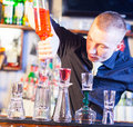 Barman Making Cocktail Drinks Royalty Free Stock Photography - 29099987