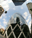 Fisheye Of Swiss Re Building Stock Images - 2917294