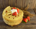 Pancakes With Strawberry Stock Images - 29100414