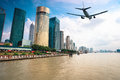 Modern City With Aircraft Stock Images - 29103124