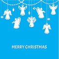 Merry Christmas Greeting Card Stock Photos - 29104493