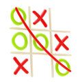 Tic Tac Toe Game Glossy Emblem Stock Photography - 29105522
