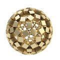 Abstract Sphere Made Of Golden Cubes Isolated Stock Photography - 29106362