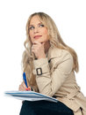 Woman Writing In The Notebook Royalty Free Stock Photo - 29115925