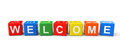Welcome Sign Cubes Royalty Free Stock Image - 29116486