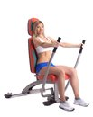 Blonde Young Woman On Hydraulic Exerciser Royalty Free Stock Photography - 29116617