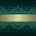 Green Gold Floral Vintage Seamless Pattern Royalty Free Stock Photo - 29121335