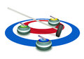 A Collection Of Curling Stones On Ice Sheet Stock Photography - 29121722