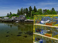 Commercial Lobster Traps Ready To Work Stock Image - 29125151