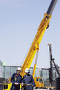 Construction Machinery And Workers Stock Photo - 29134980