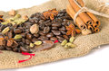 Burlap Bag With Cofee Bean Stock Images - 29140974