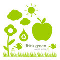 Vector Ecological Icons Stock Photography - 29141922