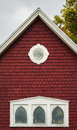Eaves Of An Old Red Building Royalty Free Stock Photos - 29149398
