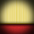 Illustration Of Red Carpet Floor With Yellow Strip Royalty Free Stock Photo - 29149955