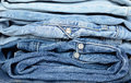 Stack Of Jeans Stock Photography - 29155552