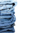 Stack Of Blue Jeans Royalty Free Stock Photos - 29155618