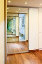 Sliding-door Mirror Wardrobe In Modern Hall Interior Royalty Free Stock Photo - 29159735