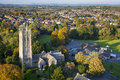 Aerial View Of A British Village With Church And School Royalty Free Stock Photography - 29159927