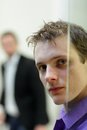 Pane,man S Face Portrait, Another Man In Background Stock Photo - 29161020