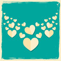 Valentines Day Card In Retro Style Royalty Free Stock Photos - 29167038