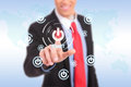 Businessman Push The Start Button Royalty Free Stock Images - 29176989