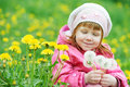 Baby With Spring Dandelion Stock Photos - 29177303