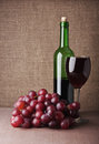 Wine Glass With Grape Royalty Free Stock Image - 29185196