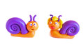 Two Snails, Clay Modeling. Royalty Free Stock Image - 29189476