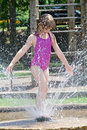 Playing In Fountain Stock Images - 2926514