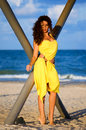 Young Woman In A Yellow Dress Stock Photo - 29201560