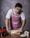 Sad Man Try To Cooking Royalty Free Stock Photography - 29209517