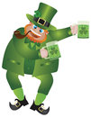 St Patricks Day Leprechaun With Beer Royalty Free Stock Photo - 29213355