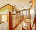 Large New American Home Staircase Hallway Details. Stock Image - 29215481