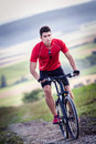 Cycling Man Royalty Free Stock Photo - 29218855