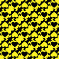 Black And Yellow Hearts Stock Images - 29220664