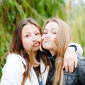 Two Happy Teenage Girl Friends Stock Photography - 29225542