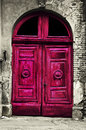 Old Wood Red Door Royalty Free Stock Image - 29225766