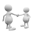 3D People Handshake Royalty Free Stock Photography - 29238937