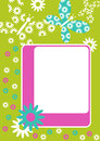 Flying Flowers And Butterflies Frame Stock Photo - 29239420