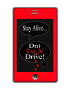 Dont Text And Drive Concept Royalty Free Stock Photo - 29242825