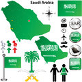 Saudi Arabia Map Royalty Free Stock Image - 29243426